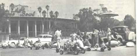 Karters in the Rosebowl parking lot