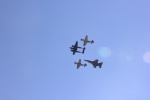 The flyover was to represent aviation history
