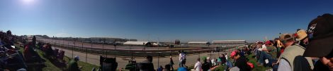 Our seats at Turn 19.  Note Turn 1 in the distance to the left!